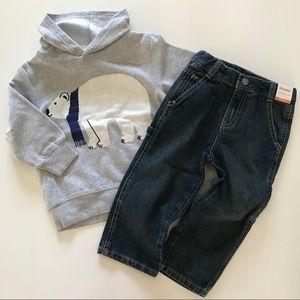 NWT Boys Gymboree Set 2T 3T Hoodie Jeans Lot NEW